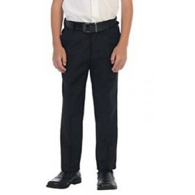 Best Value Boys Flat Front Pant-Navy