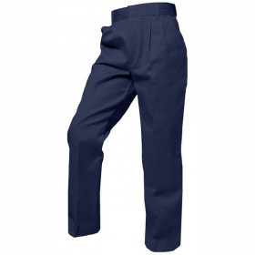 Boys Pleated Pants-Navy