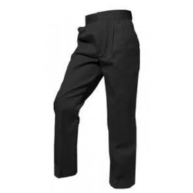 Girls Pants- Solid Color- Pleated Front-Black