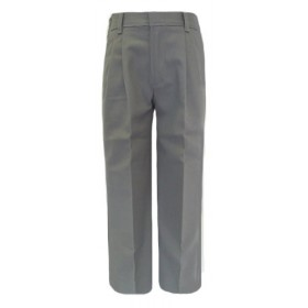 Boys Pleated Pants-Grey
