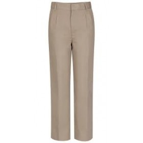 Boys Pleated Pants-Khaki