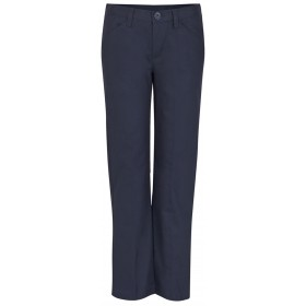 Girls Pants- Solid Color- Flat Front-Navy