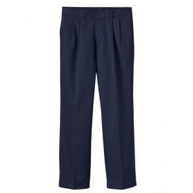 Girls Pants- Solid Color- Pleated Front-Navy