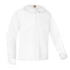 Peter Pan Blouse- Long Sleeve-White