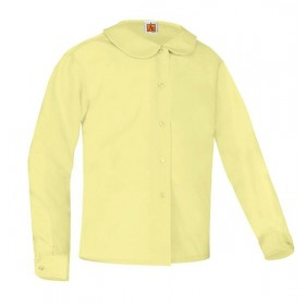 Peter Pan Blouse- Long Sleeve-Yellow