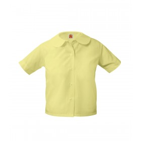 Peter Pan Blouse- Short Sleeve-Yellow