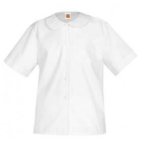 Peter Pan Blouse- Short Sleeve-White