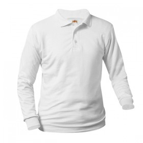 Unisex Banded Sleeve Knit Shirt - Smooth/Jersey - Long Sleeve-White