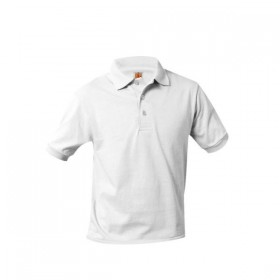 Smooth/Jersey Polo - Short Sleeve-White