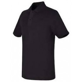 Best Value Knit Polo Shirt- Short Sleeve-Black