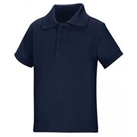 Pique Polo - Banded Sleeve - Short Sleeve-Navy