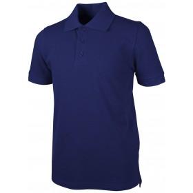 Pique Polo - Banded Sleeve - Short Sleeve-Royal Blue