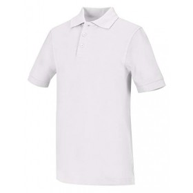 Pique Polo - Banded Sleeve - Short Sleeve-White
