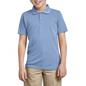 Smooth/Jersey Polo - Short Sleeve-Light Blue