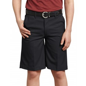 Boys Flat Front Shorts-Navy