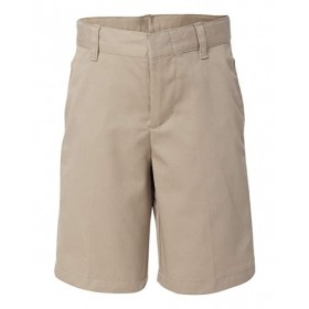 Best Value Boys Flat Front Short-Khaki