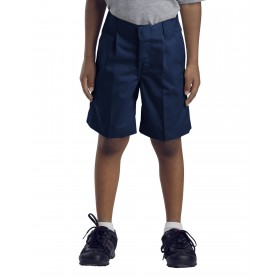 Boys Pleated Shorts-Navy
