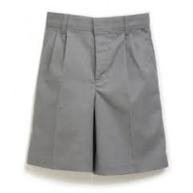 Boys Pleated Shorts-Grey