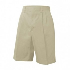 Boys Pleated Shorts-Khaki