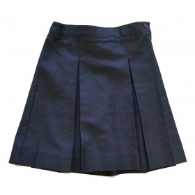 Box Pleat Skirt- Solid Color-Navy