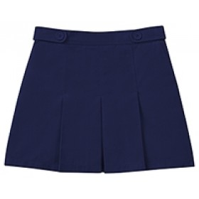 Box Pleat Skort-Navy