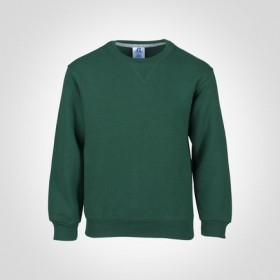 Crew Neck Sweatshirt-Hunter Green