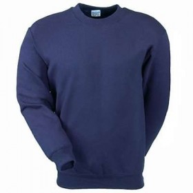 Crew Neck Sweatshirt-Navy