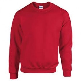 Crew Neck Sweatshirt-Red