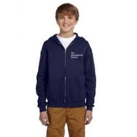 Zip Hooded Sweatshirt-Navy