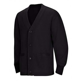 Cardigan Sweater with Pockets-Black