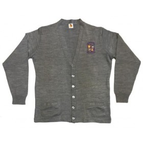 Cardigan Sweater with Pockets-Grey