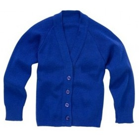 Cardigan Sweater with Pockets-Royal Blue