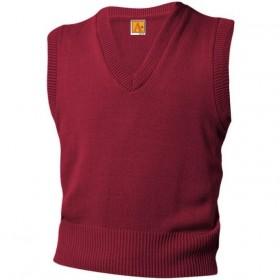 V-Neck Sweater Vest-Maroon