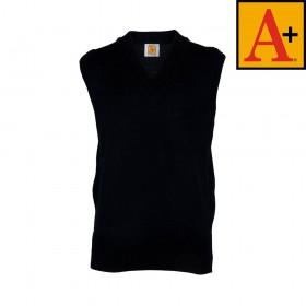 V-Neck Sweater Vest-Navy