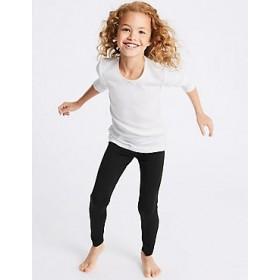 Girls Leggings (Footless Tights)-Navy