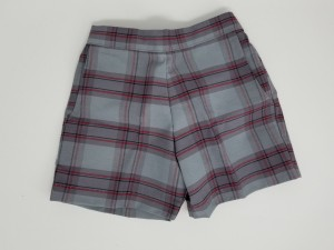 Girls Plaid Shorts- Uncuffed