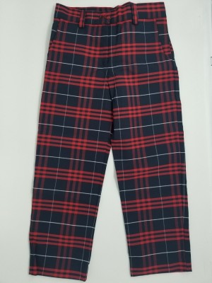 Girls Plaid Pants- Flat Front