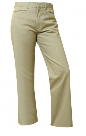 "Girls ""Slash Pocket"" Pants- Solid Color- Flat Front"