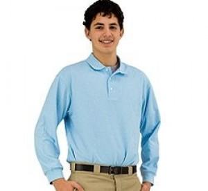 Pique Polo- Long Sleeve