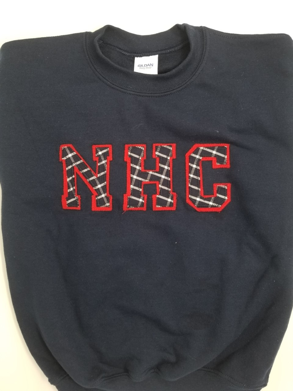 Sweatshirt with Applique Letters