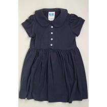 Peter Pan Knit Dress-Navy