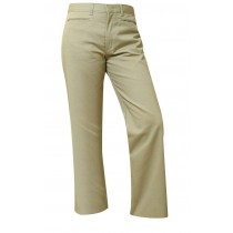 """Girls """"Slash Pocket"""" Pants- Solid Color- Flat Front"""