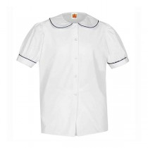 Piped Peter Pan Blouse- Short Sleeve