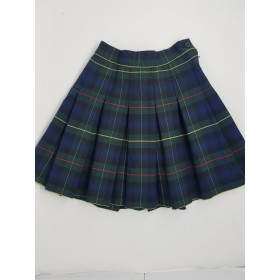 Stitch Down Pleat Skirt- Style 11-Plaid 71