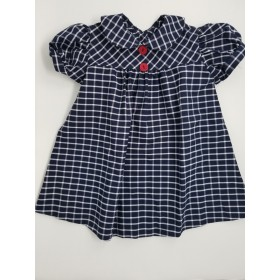 Plaid Smock Dress with Buttons in Back-Plaid 8