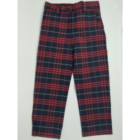 Girls Plaid Pants- Flat Front-Plaid 77