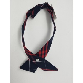 Girls Crossover Tie-Plaid 77