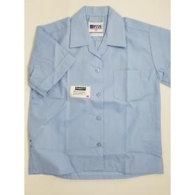 Sport Collar Blouse-Light Blue