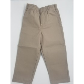 Toddler Pull-On Pant- Solid Colors-Khaki