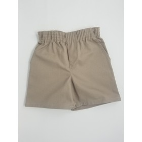 Toddler Pull-On Short- Solid Colors-Khaki